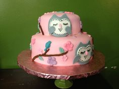 Super cute baby shower cake made by Erika @ Delish Cakes!
