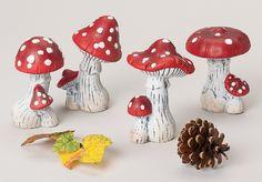 FLIEGENPILZPAAR sortiert 14cm Deko-Fliegenpilze Herbst-Dekoration Keramik-Pilze   eBay