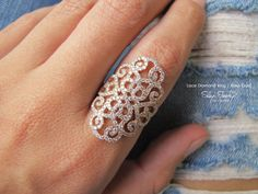 Lace diamond ring, 14K gold, in the picture rose gold, 1.35ct diamonds. click the pic to get the link ;) xoxo silly shiny