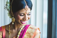 Canadian South Indian Wedding by Impressions by Annuj Indian Wedding Sari, Big Fat Indian Wedding, Desi Wedding, Wedding Bride, Wedding Day, South Indian Weddings, South Indian Bride, Traditional Indian Wedding, Indian Bridal Hairstyles