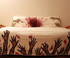 Zombie Bed Sheets, not so sure I would be able to sleep