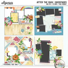 After The Rain | Quickpages by Akizo Designs (Digital Scrapbooking)