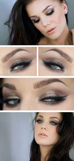 Neue Make-up Prom Silber Linda Hallberg Ideen - Prom Makeup For Brown Eyes Linda Hallberg, Gorgeous Makeup, Love Makeup, Beauty Makeup, Full Makeup, Cheap Makeup, Simple Makeup, Pretty Makeup, Make Up Looks