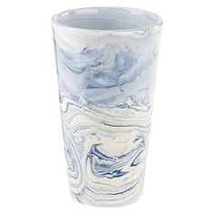 """The Paxton vase has a tapered shape that's artfully finished with a rich marbleized glaze that makes each piece unique. It's wide opening with gently curved lip makes a beautiful display of any full bouquet. 5"""" diameter, 8"""" tall. Ceramic. Wipe with a soft cloth."""