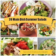 Second Chance to Dream: {20 Main Dish Summer Salad Recipes}