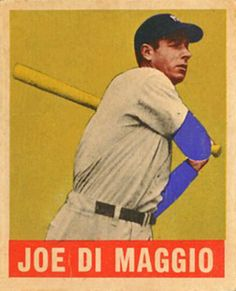 Joe DiMaggio and the Yankees went to the the world series 5 times during the won 4 times Baseball Card Values, Baseball Art, Better Baseball, Baseball Games, America's Favorite Pastime, Joe Dimaggio, Mlb Players, New York Yankees, Vintage Cards