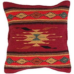 Aztec Throw Pillow Covers, 18 X 18, Hand Woven in Southwest and Native American Styles. 13