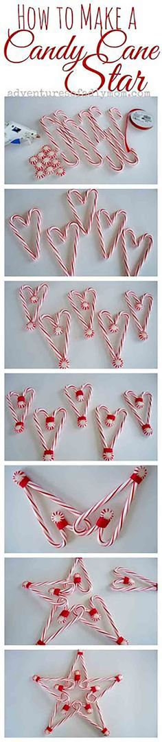DIY Candy Cane Tree Topper | 15 DIY Candy Cane Decorations You Will Love, see more at http://diyready.com/15-diy-candy-cane-decorations-you-will-absolutely-adore (Diy Christmas Star)