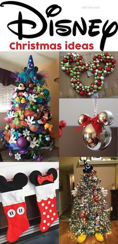 DISNEY CHRISTMAS ideas - I love that tree....must try!