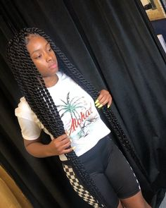 85 Box Braids Hairstyles for Black Women - Hairstyles Trends Twist Braid Hairstyles, Black Girl Braids, Braided Hairstyles For Black Women, African Braids Hairstyles, Braids For Black Hair, Twist Braids, Weave Hairstyles, Girl Hairstyles, Hairstyles 2018