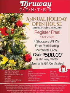 Don't forget! Our Annual Holiday Open House on Saturday, December 5th!!! Register to win gift certificates!