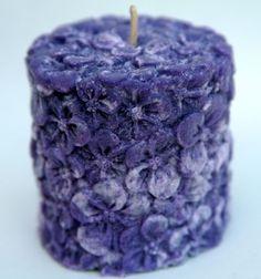 Butterfly Flower - Flower Detailed Palm Wax Votive Candle w/ Hemp Wick