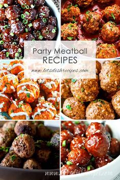Best Party Meatball Recipes: Over 30 meatballs recipes! Perfect appetizers for p… Best Party Meatball Recipes: Over 30 meatballs recipes! Perfect appetizers for parties, holidays and game day. Party Food Meatballs, Best Meatballs, Crock Pot Meatballs, Spicy Meatballs, Appetizer Meatballs Crockpot, Best Crockpot Meatballs, Cocktail Meatballs, Appetizers For A Crowd, Meat Appetizers