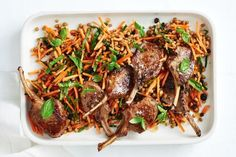 Sticky honey lamb with carrot and lentil slaw Ready in just 25 minutes, these lamb cutlets make for a quick, easy and healthy weeknight meal. Slaw Recipes, Healthy Recipes, Lentil Recipes, Free Recipes, Healthy Weeknight Meals, Homemade Hummus, Evening Meals, Main Meals