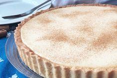 Melktert, South African Recipes, Sweet Tarts, Pie Dish, No Bake Cake, Afternoon Tea, Eat Cake, Snacks, Baking