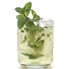 Mint-Champagne Shrub | Shrub cocktails get their tart pucker from vinegar. | #Recipes | SouthernLiving.com