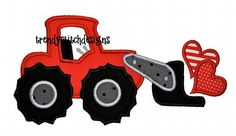 front end loader hearts embroidery design - Google Search