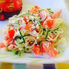 Cut the Wheat, Ditch the Sugar: Simple Summer Spiraled Cucumber Salad