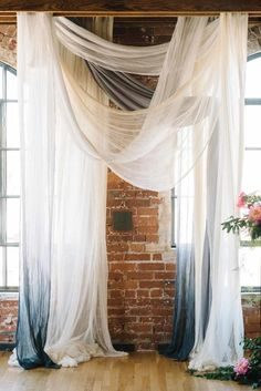 drapey wedding ceremony decor