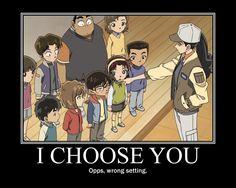 "I thought was funny, and I thought it was ""simi-clever"". I choose conan-kun Manga Detective Conan, Detective Conan Shinichi, Conan Comics, Detektif Conan, Detective Conan Wallpapers, Pokemon, Gosho Aoyama, Kaito Kid, Amuro Tooru"