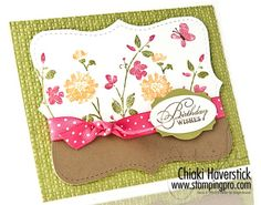Chiaki Haverstick Top Note designed card.  I love her stuff!