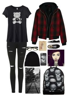 """""""-Running away-"""" by xstupidnerdx ❤ liked on Polyvore featuring Alasdair, Mi-Pac, Yves Saint Laurent, Wildfox, Vans, Topshop and R13"""