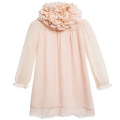 Girls very pretty, pale peach-pink dress by