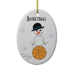 Snowman basketball ornament... $13.80
