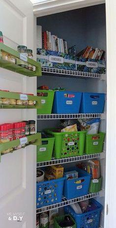 dollar store pantry organization, closet, organizing, storage ideas, Pantry organization rocks