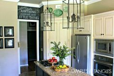 Dimples and Tangles: LANTERNS IN THE KITCHEN
