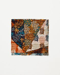Image 1 of TROPICAL PRINT SCARF from Zara