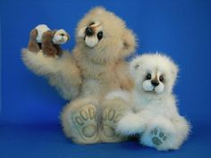 Examples of my work ... Vintage Mink Bears by Kathy Myers