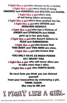 abusive relationship quotes | Escape Abuse! » Blog Archive » I Fight Like a Girl