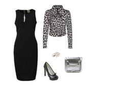 Sleeveless black dress by cresence