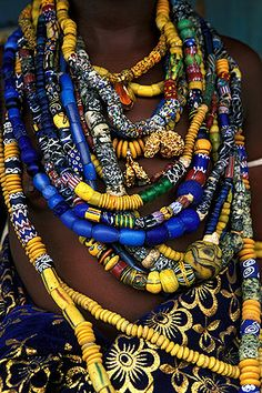 Africa | On Monday, fourth day of the Dipo festival, the girls are dressed up in the best clothes and bead necklaces belonging to her family. Ghana | © Bruno Zanzottera.