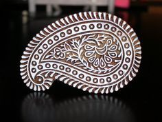 Hand Carved Indian Wood Stamp Block