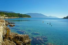 The mouth of Fiscardo harbour Pine Forest, Greece, Backdrops, Scenery, Island, World, Places, Water, Outdoor
