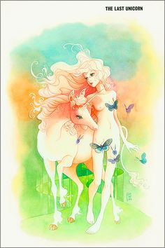 Unicorn/Amalthea. Conlan Press Publishing | Kubo fine art print | The Last Unicorn Movie and Book | Peter S. Beagle