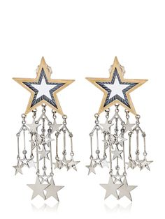 AZZA FAHMY - STAR CHARM EARRINGS - LUISAVIAROMA - LUXURY SHOPPING WORLDWIDE SHIPPING - FLORENCE