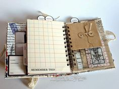 "In this third post for today I'm sharing a simple mini album which I created using a ""Travel Ledger""  paper collection from Teresa Collins. ..."