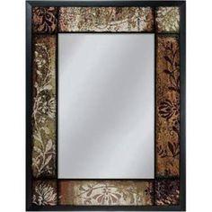 Head West 6248 25 x 33 in. Bronze Patchwork Mirror, Multi