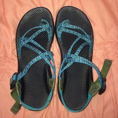 Women's size 10 custom chacos Excellent condition! Too big for me to wear. They are a customized women's 10 Chaco! Chacos Shoes Sandals