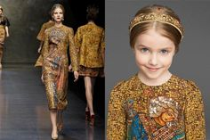 LOVE this Dress...Dolce&Gabbanna Tailored Mosaic Collection inspired by Italian Art History.