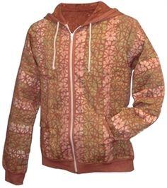 Cute patterned fleece hoodie from Unique Batik  Fairtrade  Handmade Fleece  Hoodie 6e3d5b0334