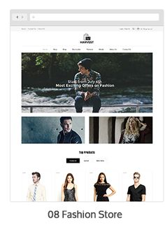 Harvest is #wordpress ecommerce theme based on #WooCommerce plugin. This theme suitable for mobile, furniture, home appliances, kitchen, electronics, art gallery, medical, tools, fashion designer clothes, food, jewellery, beauty store, watches and Multipurpose stores.
