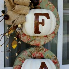 Fall Pumpkin Wreath W Dollar Store Items -  use the same concept for every holiday of the year!
