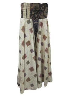 White Vintage Saree Silky Maxi Sari Harem Pants Flowy Palazzo Pant