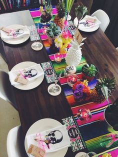 Chemin de table inspiration mexicaine