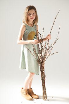mini mioche assymetric tank dress. spring 2015.