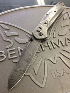 Gold Class Benchmade 940 Osborne series....damascus scales and blade, pretty sweet combo